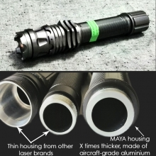 MAYA 808nm best quality handheld infrared laser pointer - much thicker compared to other laser shells