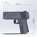 high power non lethal pistol laser dazzler to use for safety guard and in combats