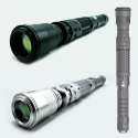 compact laser beam expander offers 1-10X magnification for laser pointer -mounted on a laser device