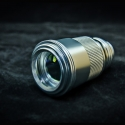 TITAN 520nm strongest handheld focus adjustable green laser pointer -silver shell in detail